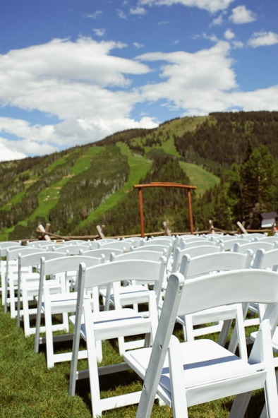 Steamboat Wedding ceremony at the top of the gondola