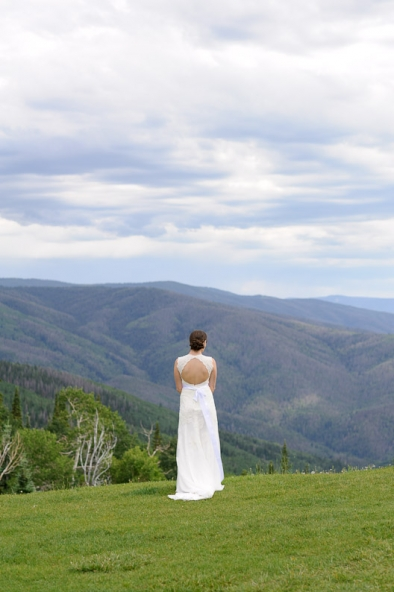 Bride on the mountain in Steamboat