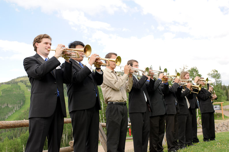 Trumpet Ensemble at Steamboat Springs Wedding
