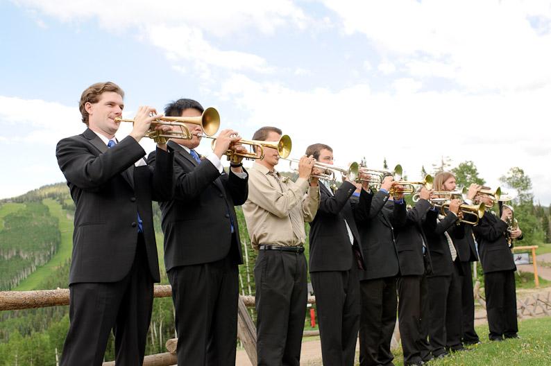 Trumpet Ensemble at Steamboat Springs Wedding