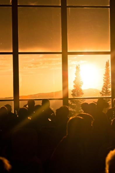 Sunset at Steamboat wedding reception