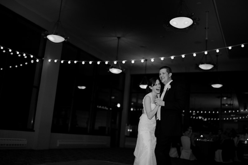 Champagne Powder Room Wedding Reception in Steamboat Springs: First Dance