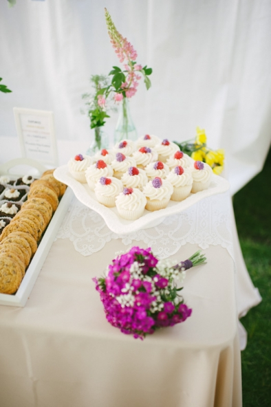 cupcakes at wedding; Steamboat Springs wedding