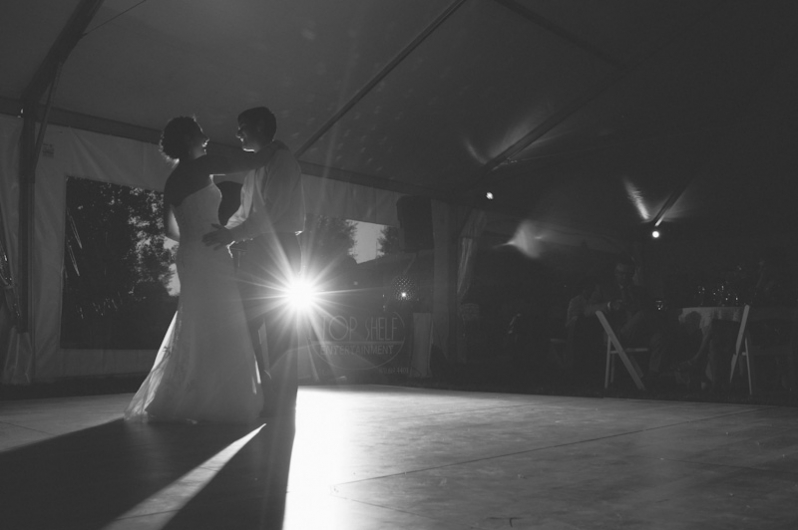 First dance at Catamount Ranch tent