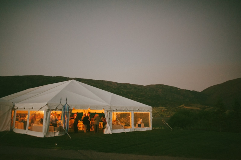 Tent at Catamount wedding; Steamboat Springs, Colorado
