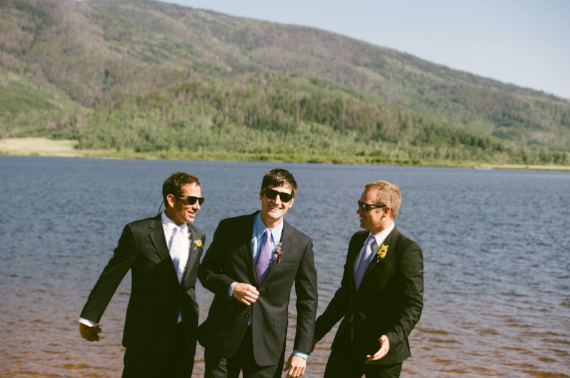 Wedding at Catamount Lake in Steamboat Springs, Colorado