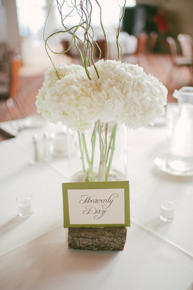 Heavenly Daze card at table at Steamboat Springs wedding reception