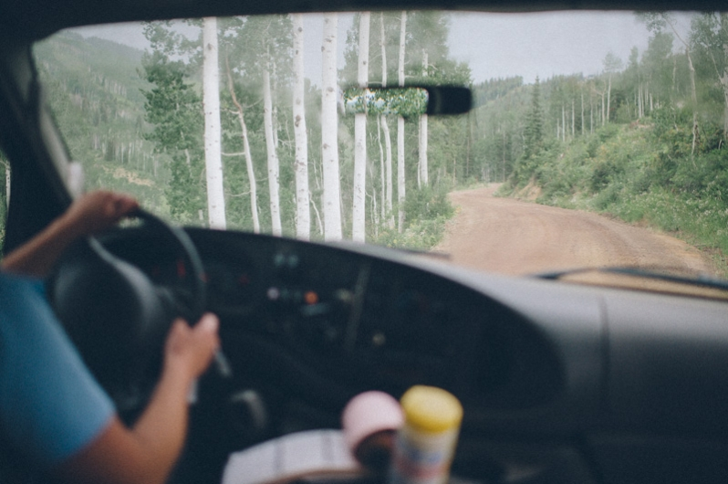 driving to the top of Mt. Werner in Steamboat Springs