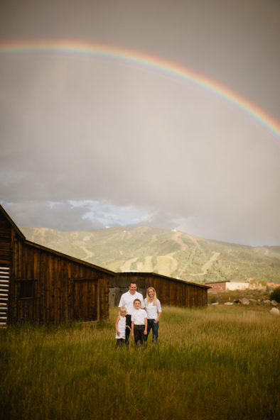 family photos at the Steamboat Barn