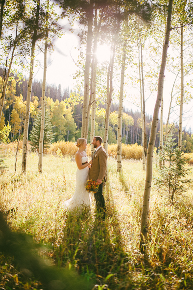 fall wedding in Steamboat Springs