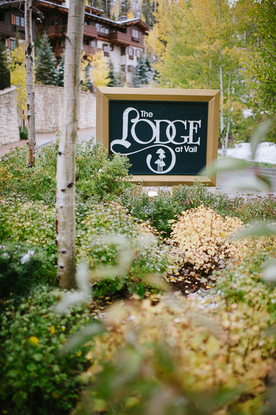 Lodge at Vail sign
