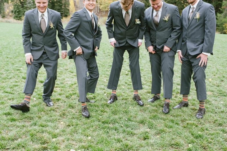 groomsmen colorful striped socks