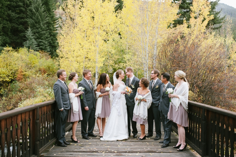wedding party in Vail
