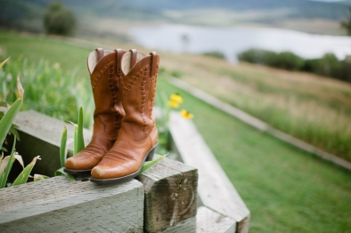 cowboy boots at wedding in Steamboat Springs