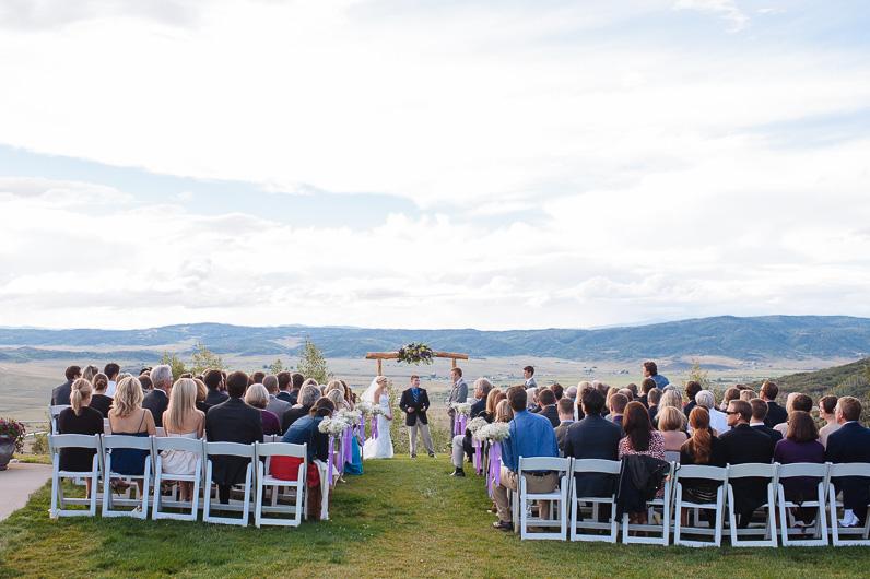 Bella Vista Wedding ceremony in Steamboat Springs
