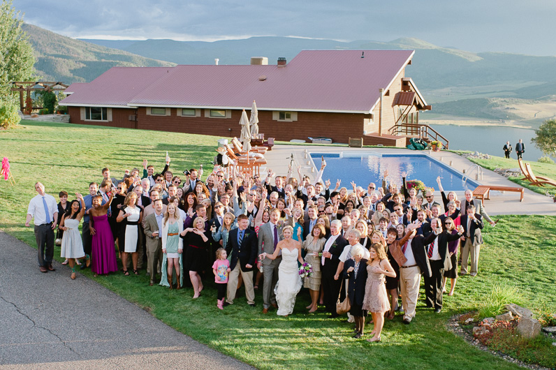guests at wedding at Bella Vista in Steamboat Springs