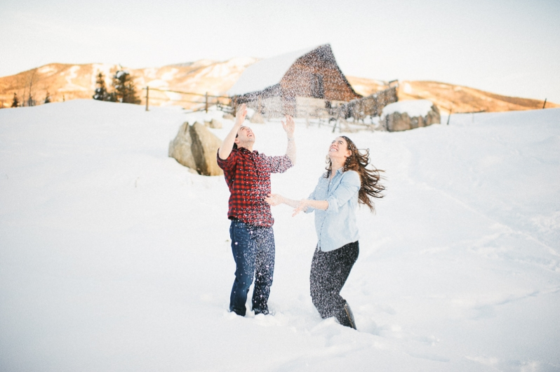 Engagement photos in Steamboat Springs