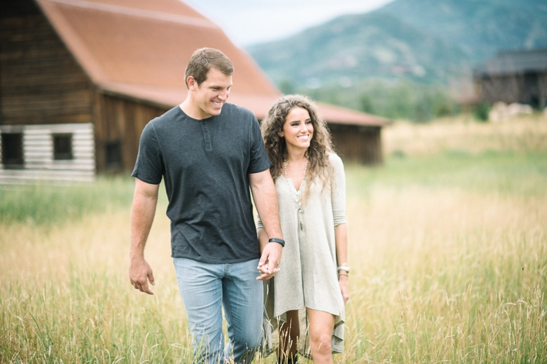 rustic colorado barn engagement photos