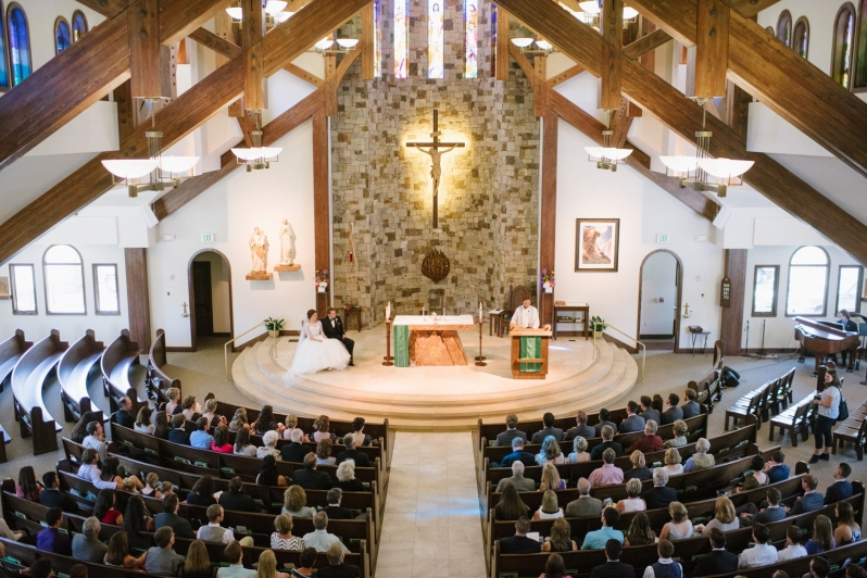 Holy Name Catholic Church Wedding in Steamboat Springs