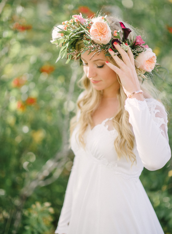 Flower Crown at Wedding