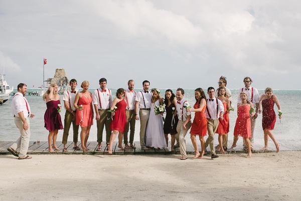 Belize Wedding Party