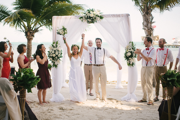 Belize wedding ceremony at Ramon